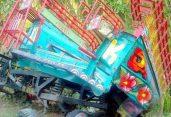 শেরপুরে গরু বোঝাই ভটভটি উল্টে নিহত-১, আহত-১