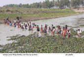 শীব নদীতে ঐতিহ্যবাহি পলো দিয়ে মাছ শিকার উৎসব