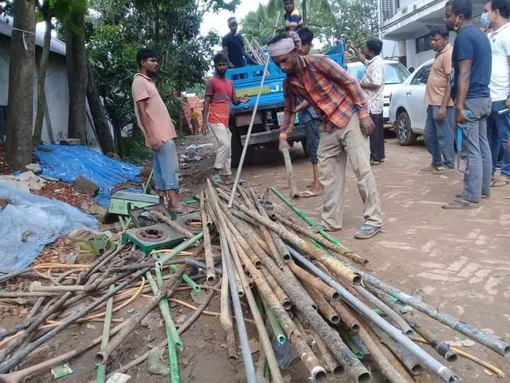 কাশিমপুরে ৪নং ওয়ার্ডে অবৈধ গ্যাস সংযোগ বিচ্ছিন্ন